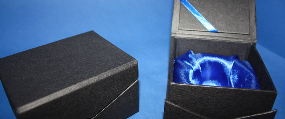 gift boxes, blue interior
