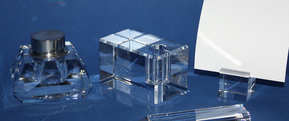 office utilities made of crystal glass