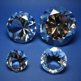 Diamanten, verschiedene Größen