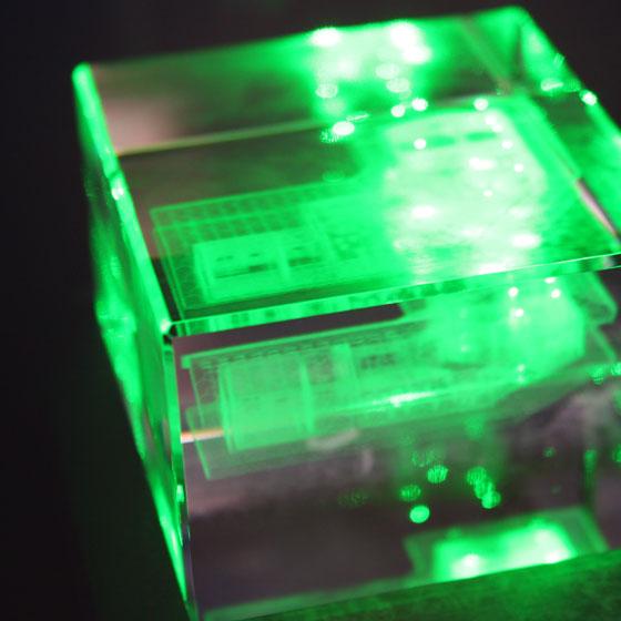 Prozess der Kristallglasgravur