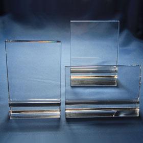 Flachglas mit breiter Basis