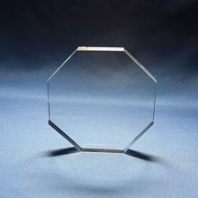 Achteck-Flachglas