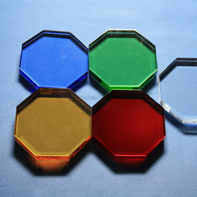 Achteck-Flachglas, koloriert