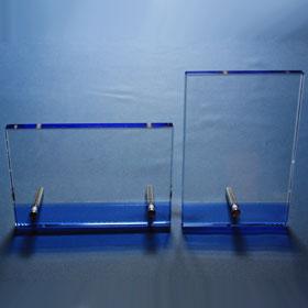 Blauer Kristallglasrahmen