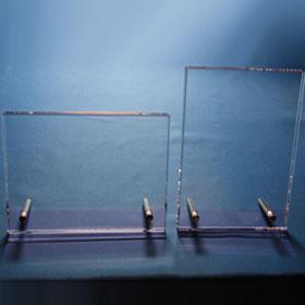 Pinker Kristallglasrahmen