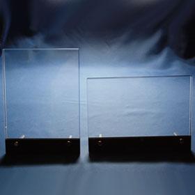 Schwarzer Kristallglasrahmen