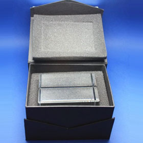 black gift box, magnetic, view inside