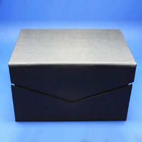 black gift box, magnetic, view outside