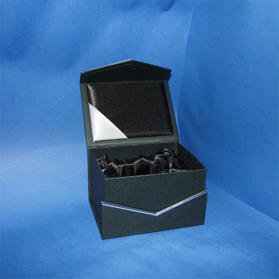 gift box, silver line, open